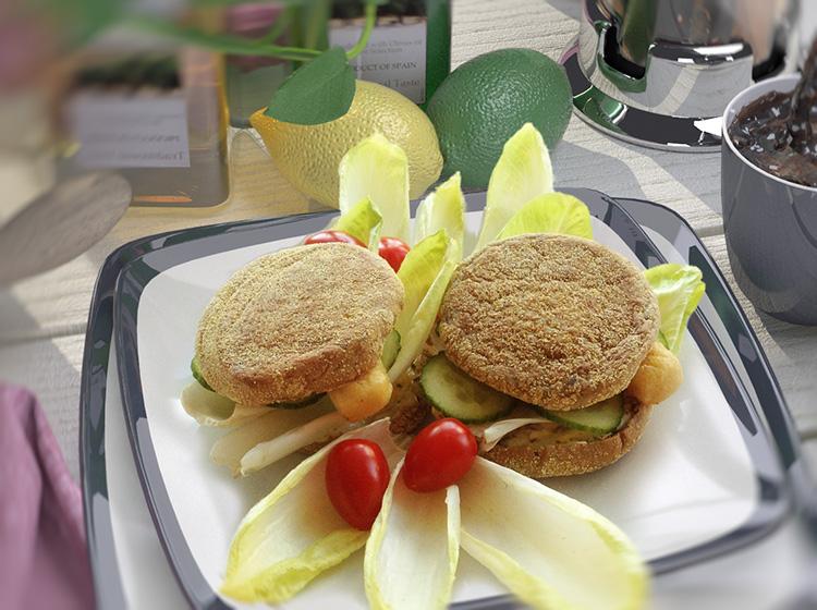 Fischstäbchen-Sandwich