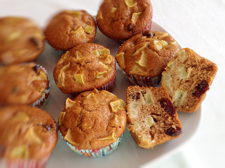 Apfel-Cranberry-Muffins
