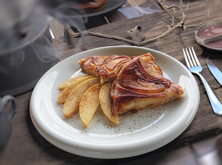 Apfelpfannkuchen (Zutaten für 2 Personen)