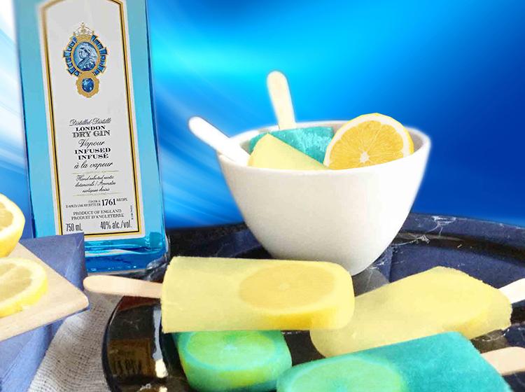 Gin-Lemon-Popsicles
