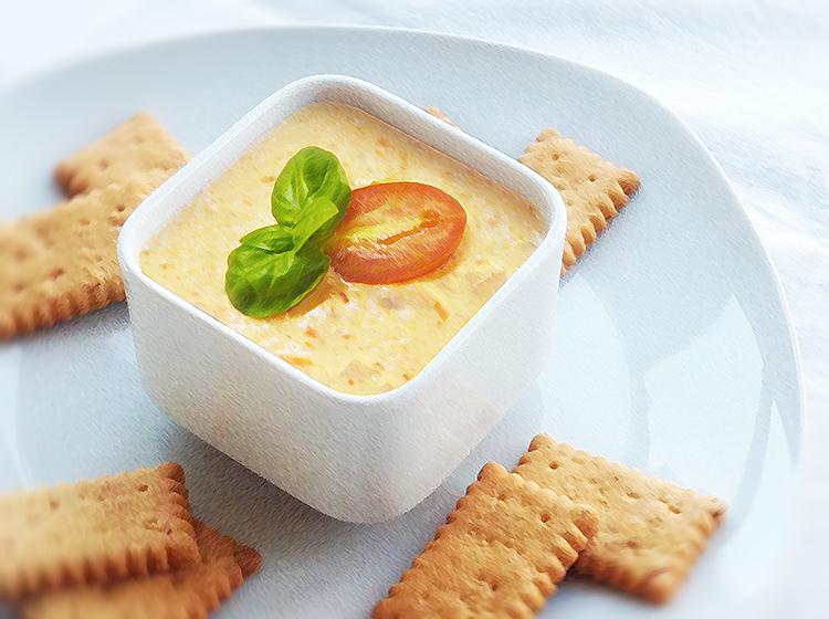 Käse-Dip mit Oliven