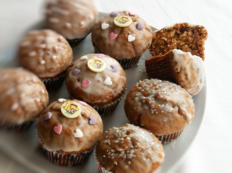 Karotten-Hafeflocken-Muffins