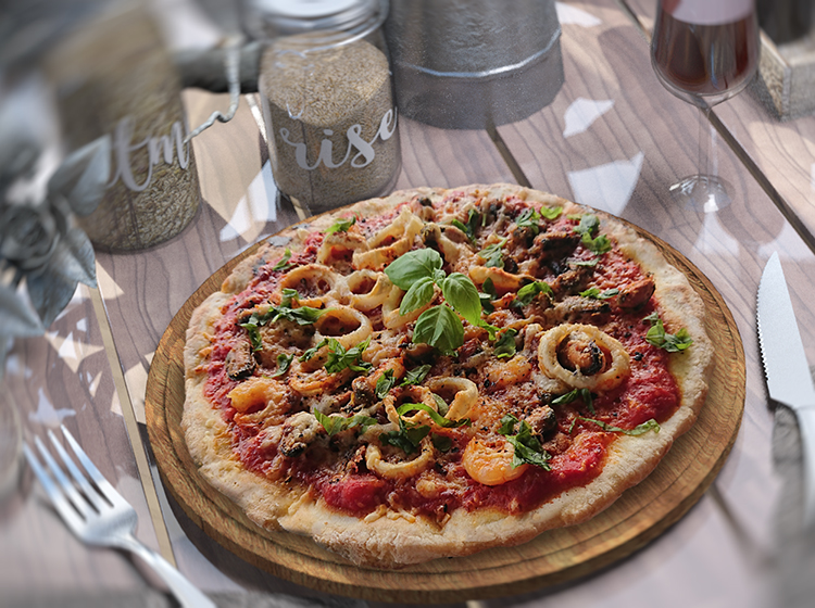 """Pizza frutti di mare (Zutaten für 1 Person)"""" width="""