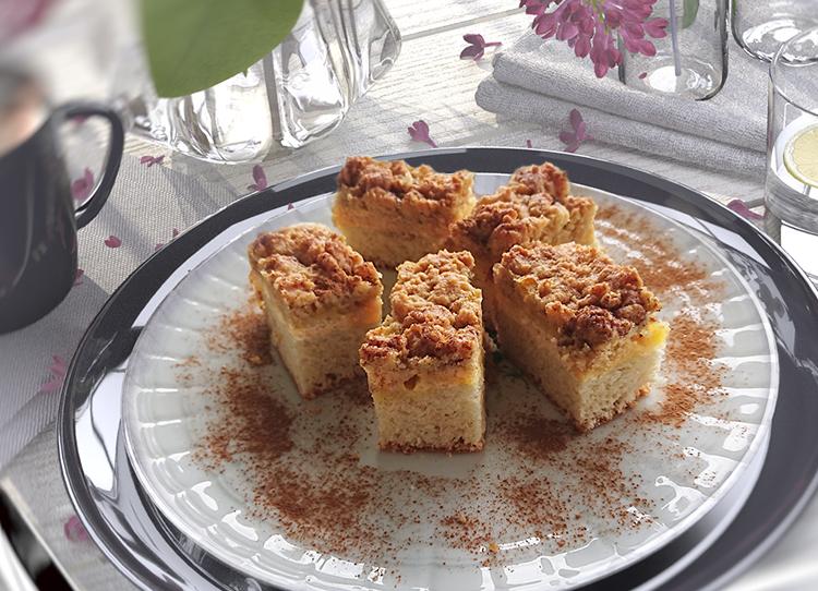 Streuselkuchen mit Vanillequark (Zutaten für 1 Backblech)