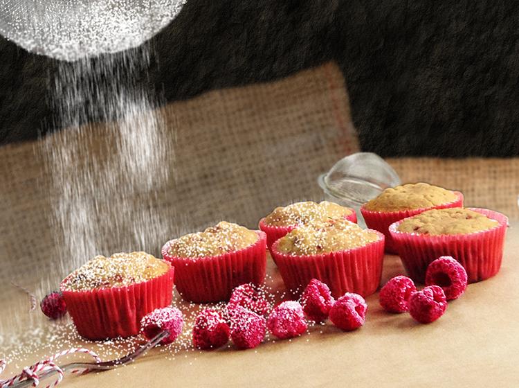 Raspberry White Choco Muffins