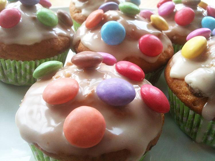 Muffins mit Smarties